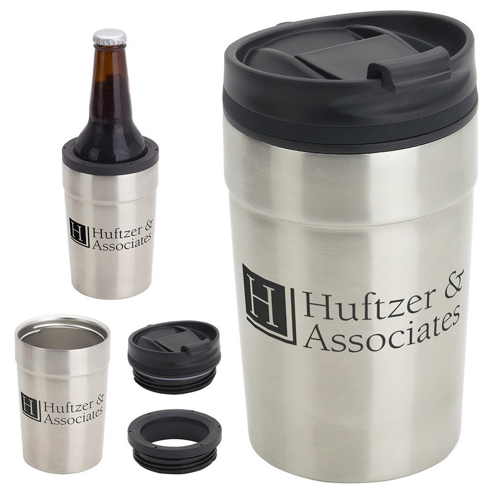 Promotional Carousal Copper-Lined Tumbler & Can Holder Keeps Drinks Cool and Customers Happy