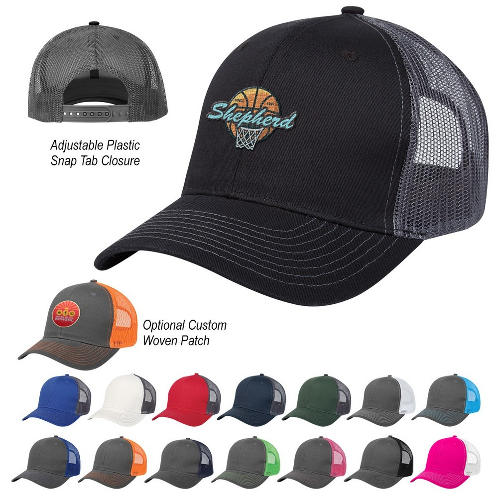 Custom Cotton Twill Mesh Back Cap Will Get your Customers Cheering