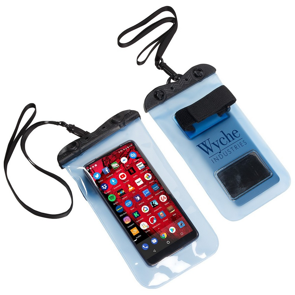 Have Your Customers Thanking You with this Promotional Touch-Thru Waterproof Phone Pouch