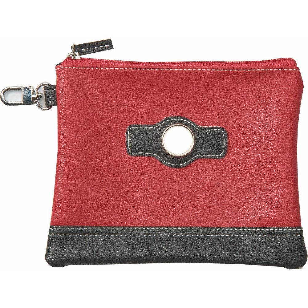 This Classy Custom Two-Tone Zipper Valuables Pouch Will Draw New Customers' Eyes