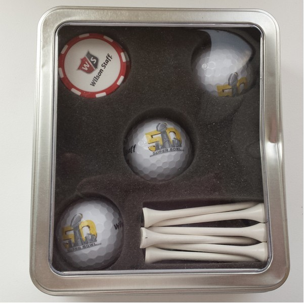 Custom Wilson Staff® 3-Ball Tin Perfect to Show your Business's Sophisticated Side