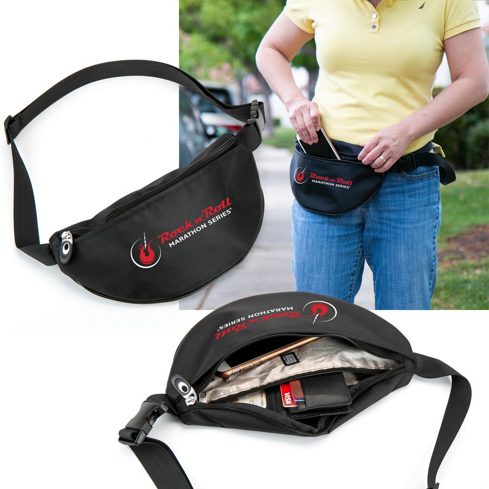 Let Your Company's Convenience Shine with this Promotional Crescent Waist Pack