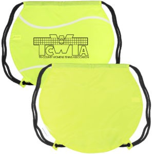 Tennis Ball Drawstring Backpack with Logo